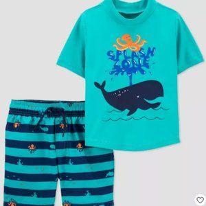 New Toddler Riddler Boys' Whale Print Short Sleeve